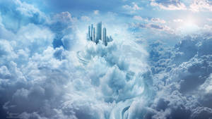 Above the clouds building