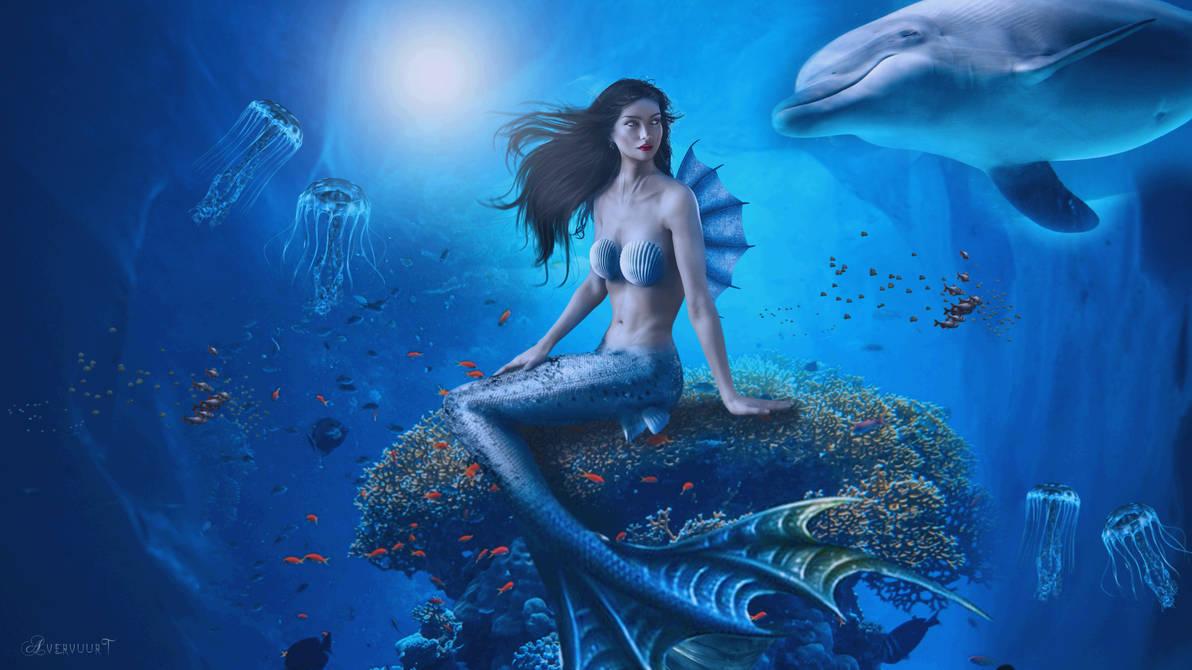 mermaid and her friend