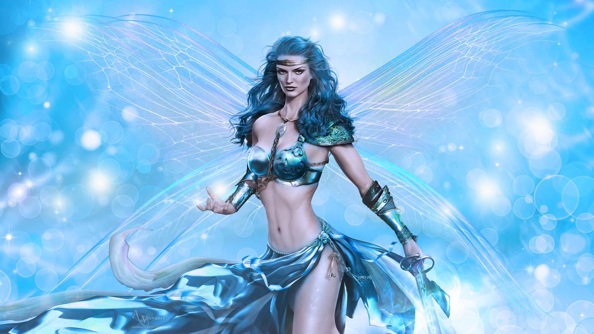The bleu fairy  angel