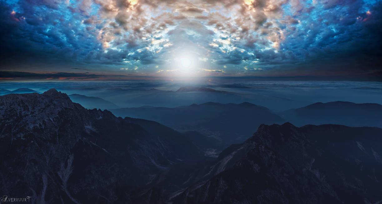 Bleu mountains beauty