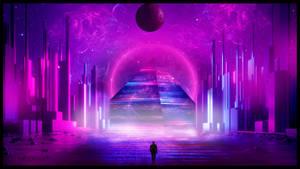 Purple Pyramide city