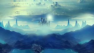 Bleu castle view