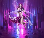 The purple angel