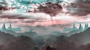 The pink  Landscape