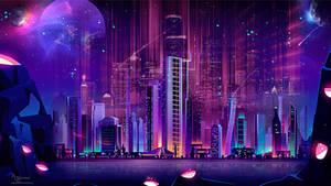 Neon City surreal