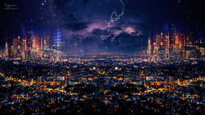 Los  Angeles Neon city
