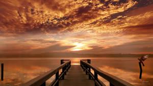 The orange pier