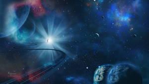 Road in cosmos