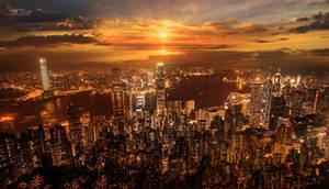 Hong Kong light city