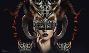 Horn beauty woman