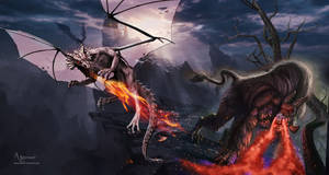 The duel beast and dragon