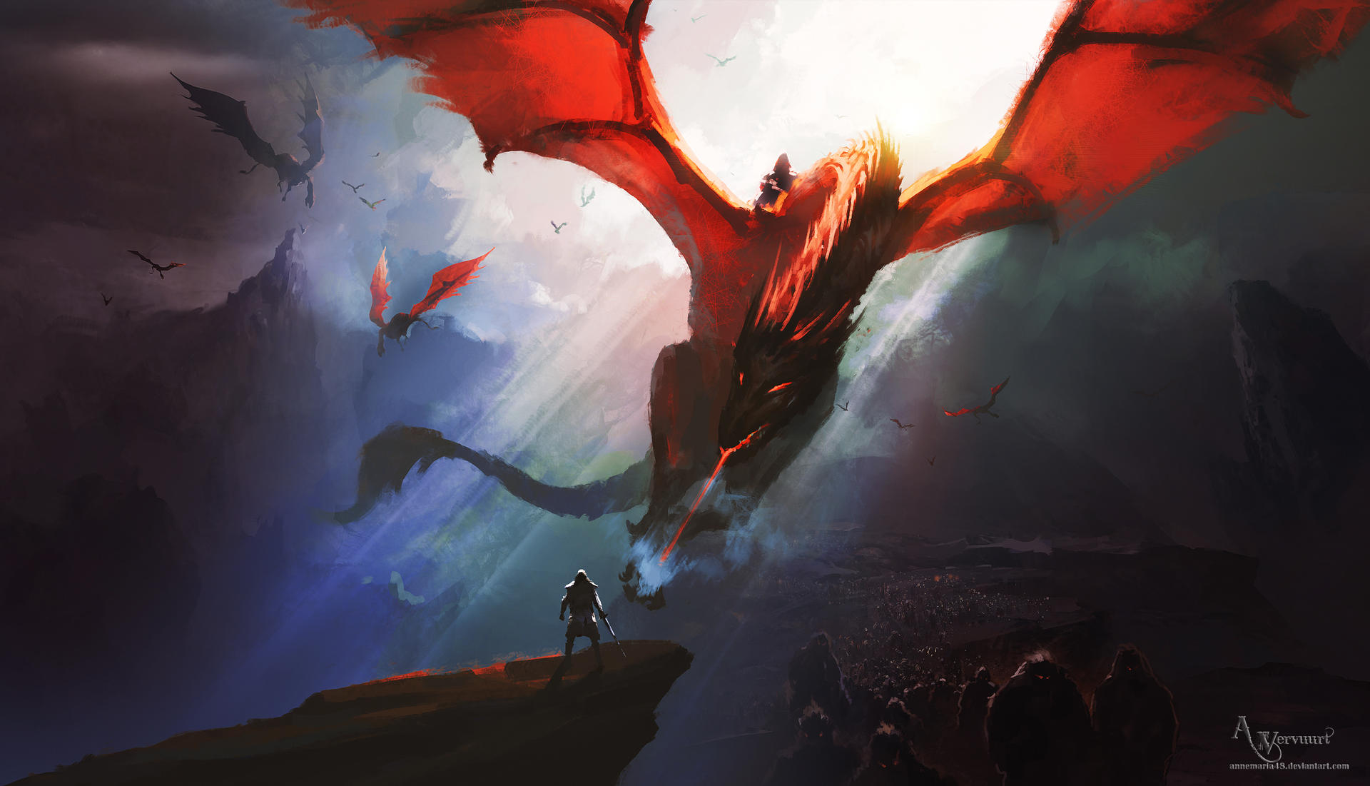 Epic red dragon soon live at my youtube channel
