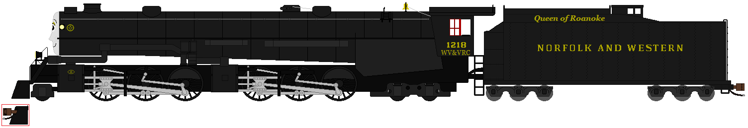 Norfolk the Norfolk and Western 1218 by RyanBrony765