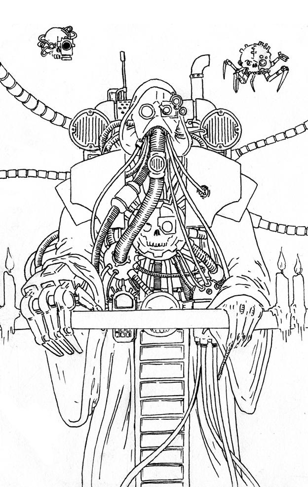 Tech-Priest Casu Marzu by Drhoz