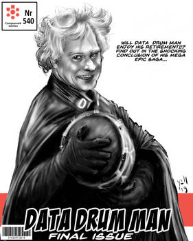 Data Drum man comic cover