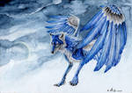 Blue Wolf by Drachenseele