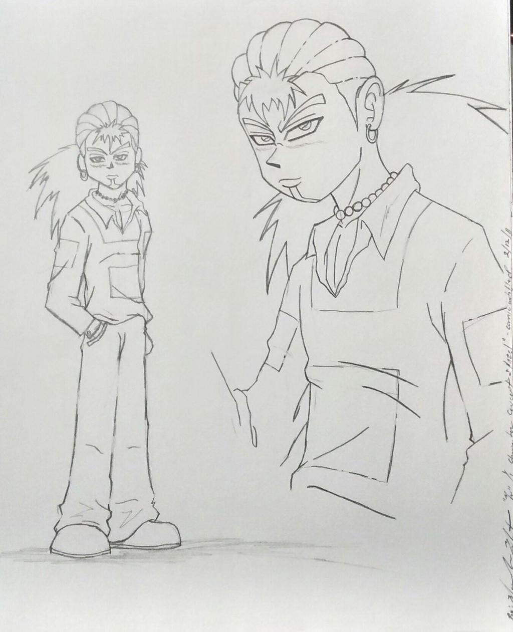 By TashyneArt Manga Character Design (Bad Guy/Good Guy?) By TashyneArt