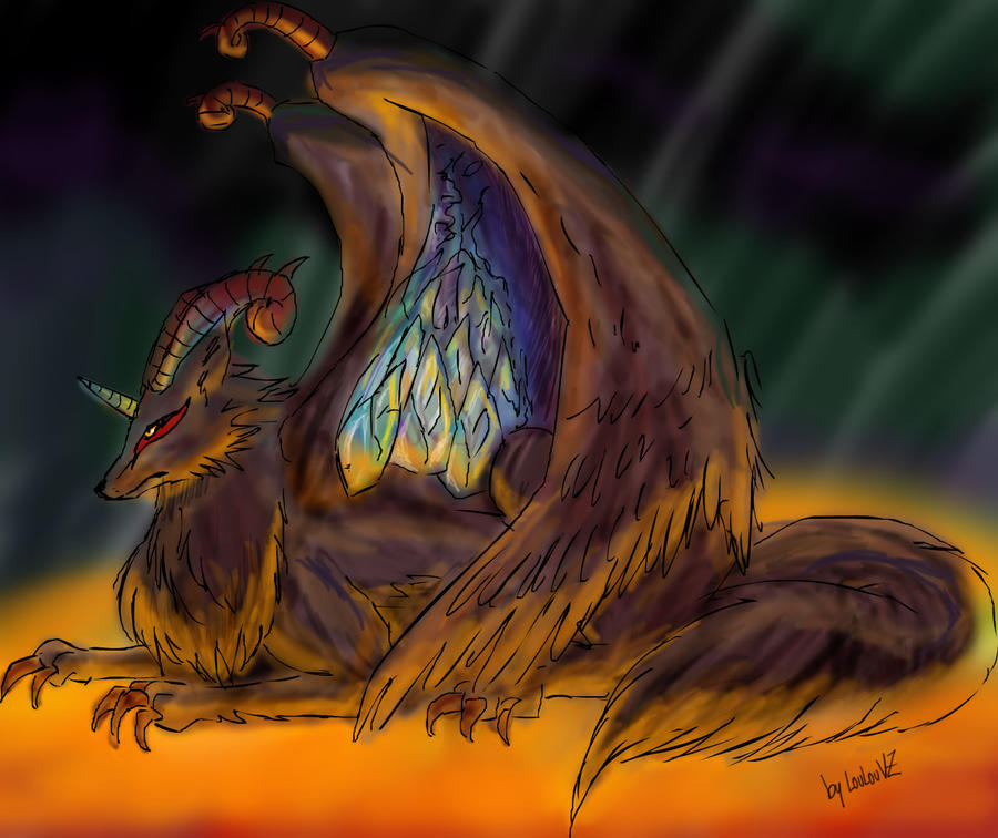 Lobo dragon by loulouvz on deviantart for Gimnasio 5 dragones