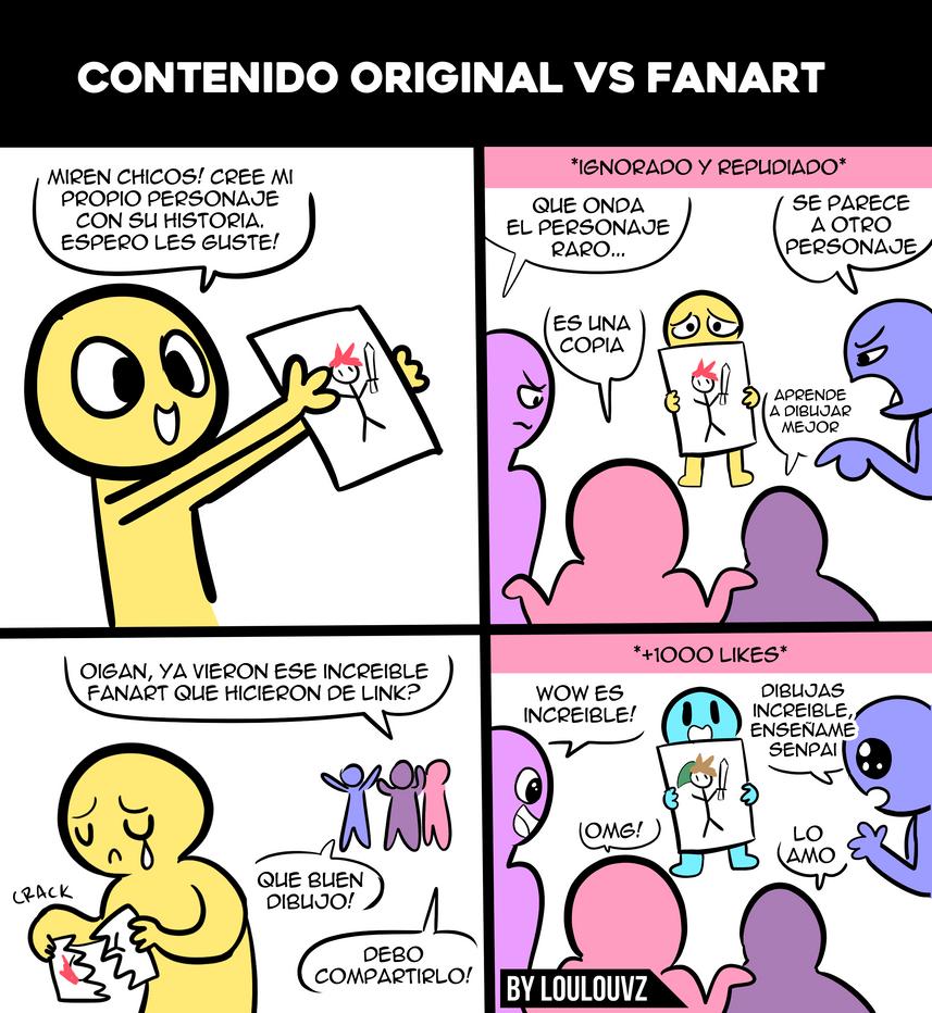 Contenido original vs fanart by LoulouVZ