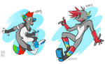 toony furry to spaicy style