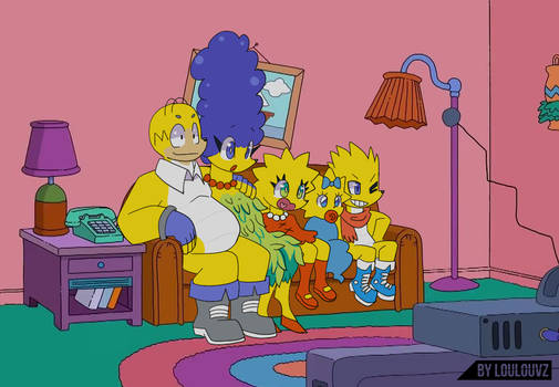 Simpsons in Spaicy style