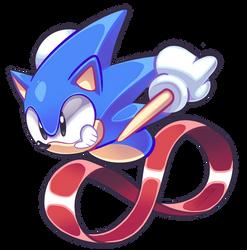 Sonic Fanart by LoulouVZ