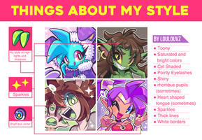 Things about my artstyle