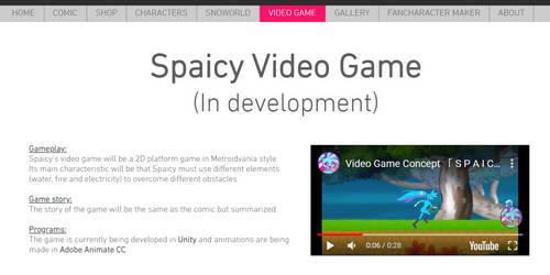 Spaicy VideoGame Website