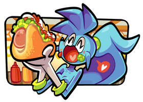 Spaicy eating a completo