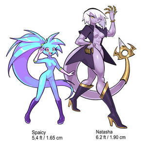 Size difference - Spaicy and Natasha