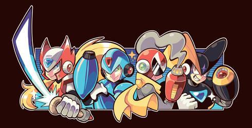 Megaman art by LoulouVZ