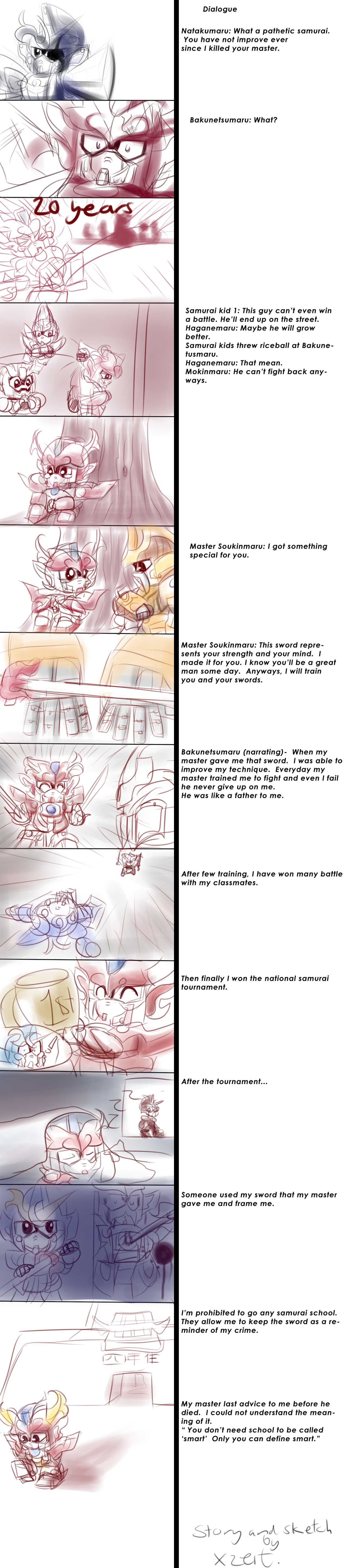 Baku's past storyboard by Xzeit