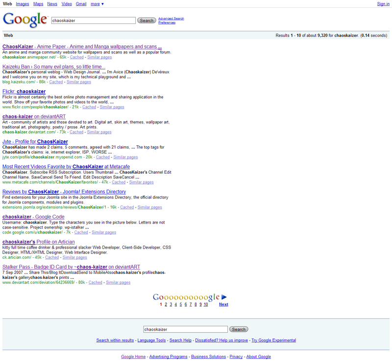 Google SERPs by chaos-kaizer