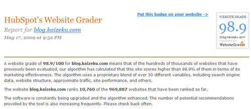 website grader by chaos-kaizer