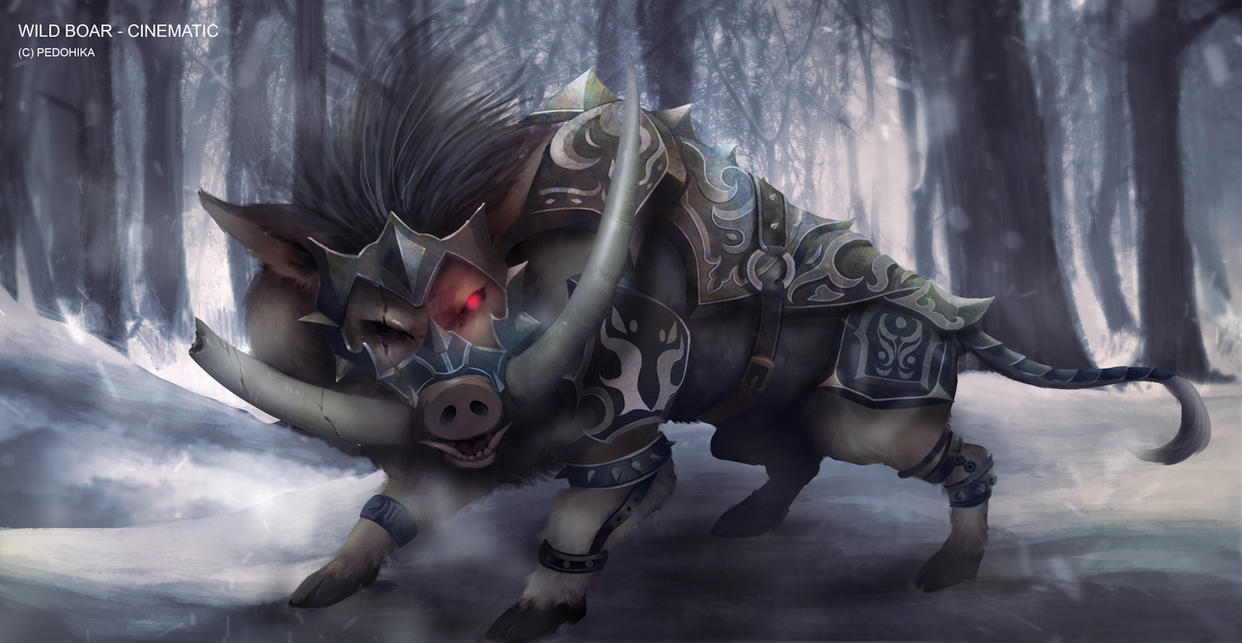 Cinematic_wild boar by Hika-Vns