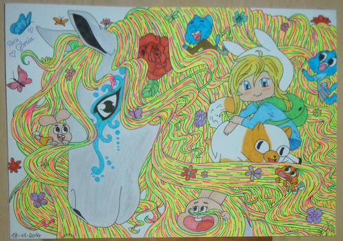 Grey Hourse, Gumball's Family and Fionna and Cake