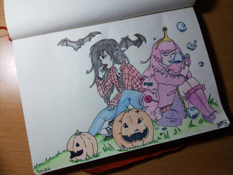 Vampires and Bubblegums practicing :)