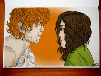 Outlander (2014) - Jamie and Claire by Bea89