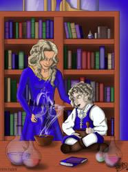 Castlevania (2017) - Lisa and little Alucard by Bea89