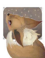 Art Supplement: Eevee by DogwishestobeHyena