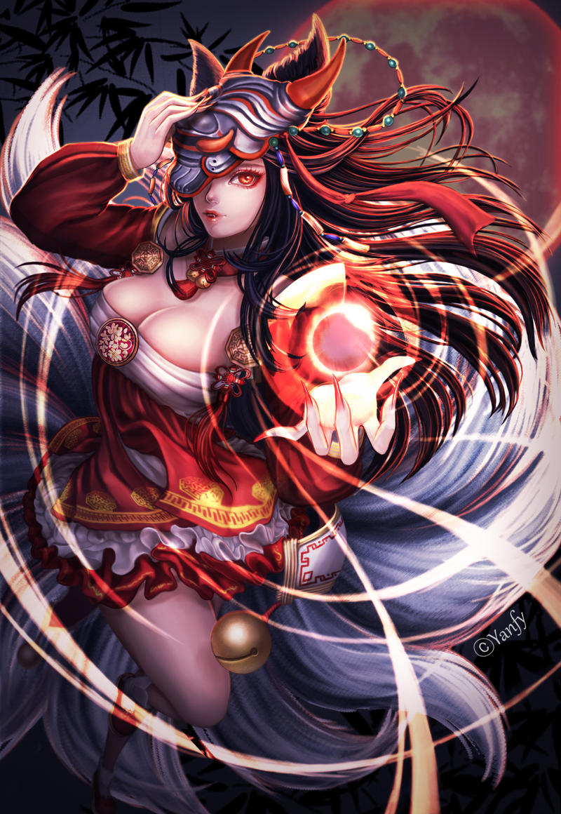 League of legends Ahri by yanfy