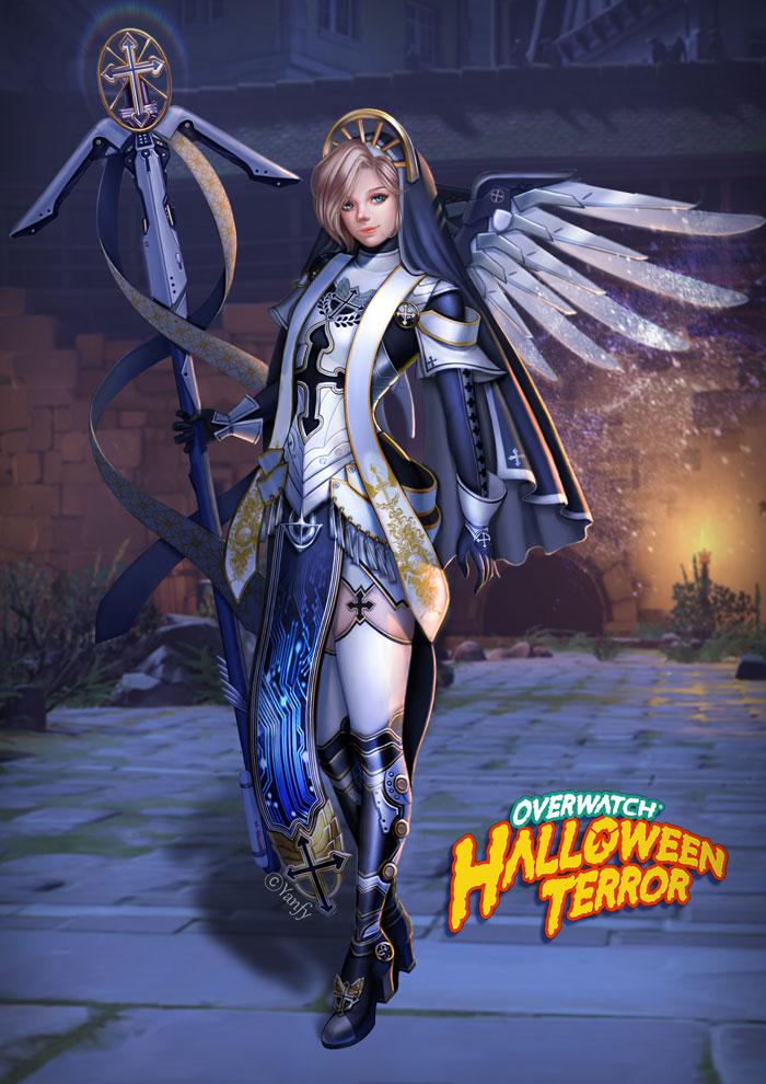 New Overwatch Halloween Skins 2020 Mercy overwatch halloween skin mercy by yanfy on DeviantArt