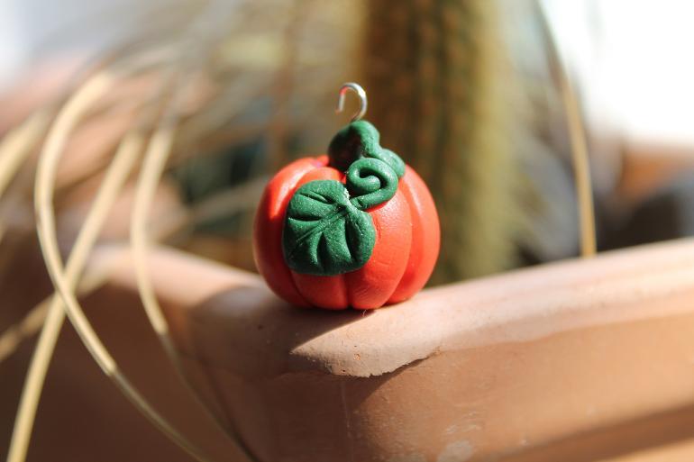 Fimo Pumpkin by fliegenpapier