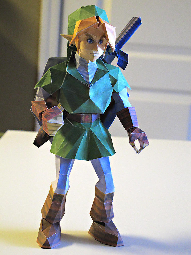 Link Sword and Shield on Back by im-tall