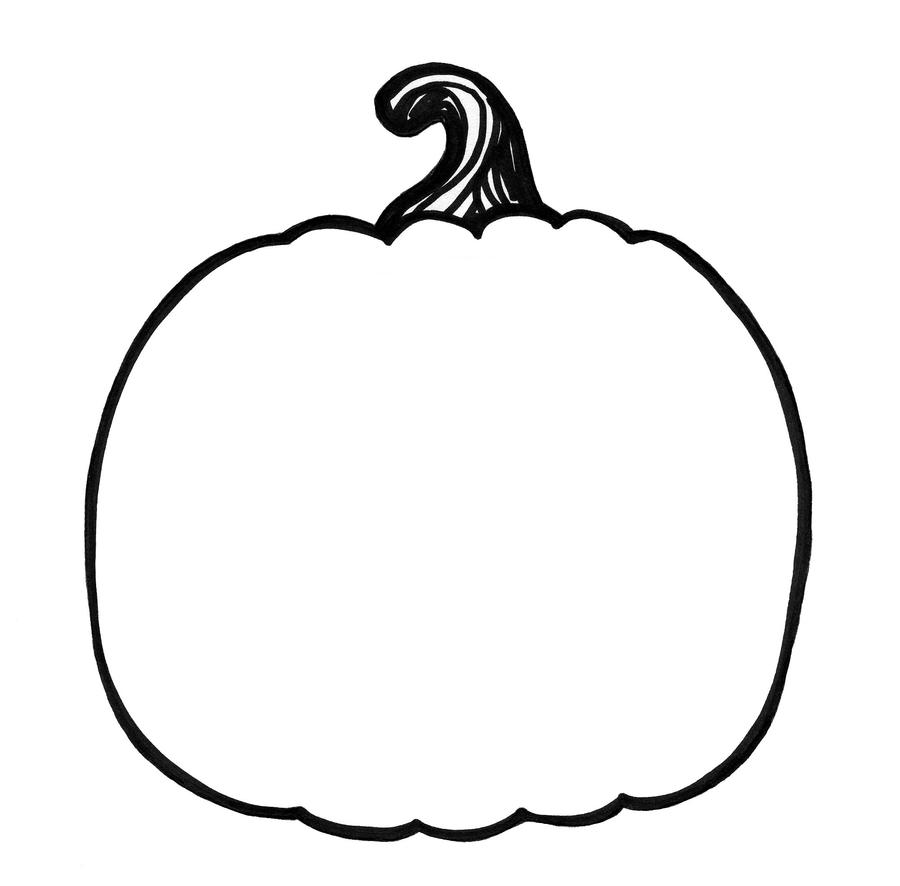 Coloring Book Page - Pumpkin 1 by ksbey on DeviantArt