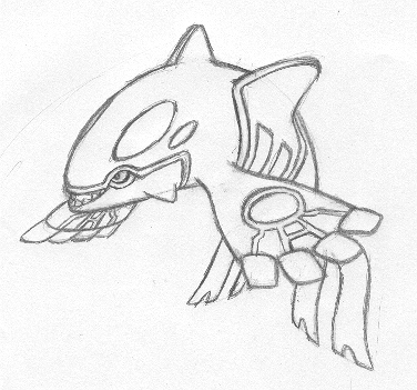 Primal Kyogre Coloring Page kyogre coloring pages