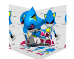 Low Poly Classic Metal Sonic