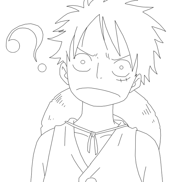 Luffy Lineart : Lineart luffy funny face by dennisstelly on deviantart