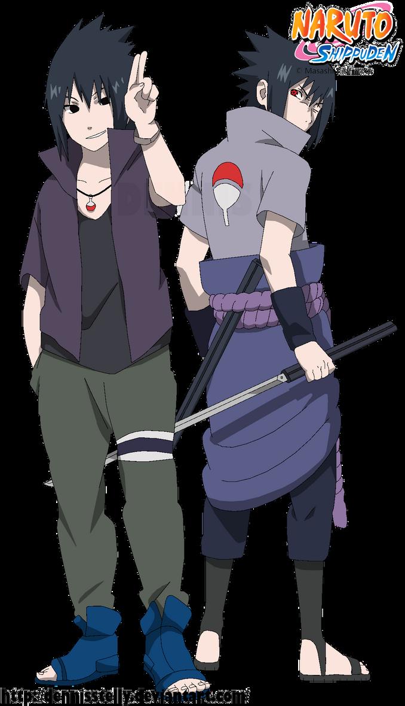 Sasuke VS Sasuke Road to Ninja - Lineart colored by DennisStelly