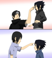 Itachi and Sasuke - lineart Colored by DennisStelly